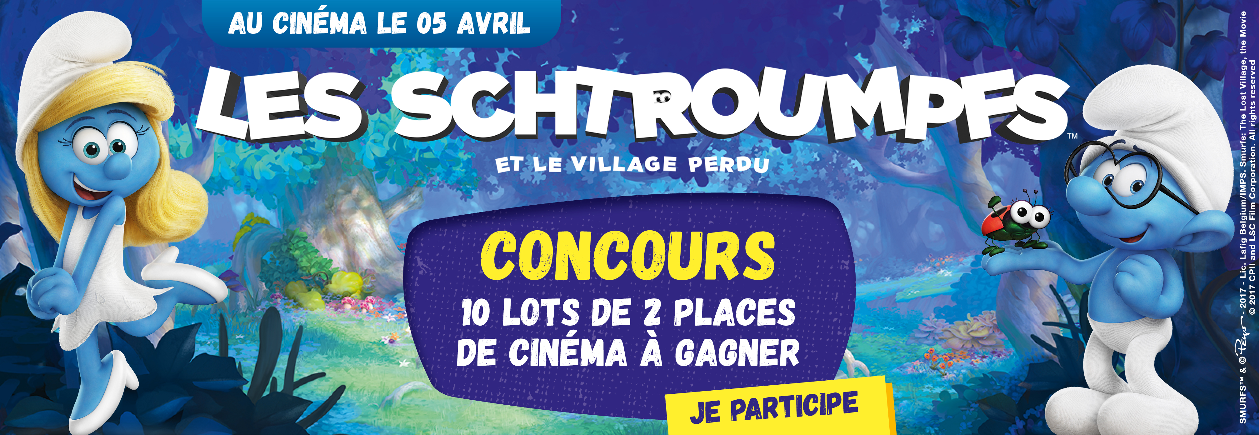 Participe à Notre Jeu Concours Les Schtroumpfs Et Le Village Perdu