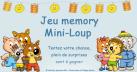 Visuel jeu concours memory Mini Loup
