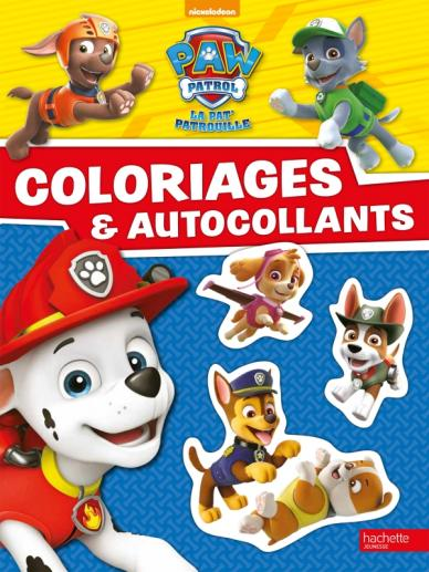 paw patrol la pat 39 patrouille coloriages et autocollants hachette jeunesse. Black Bedroom Furniture Sets. Home Design Ideas