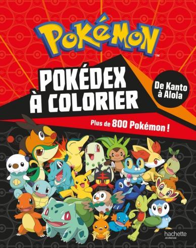 Pokémon - Pokédex de Kanto à Alola à colorier