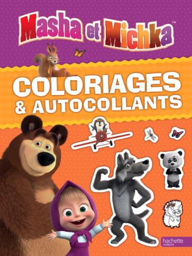 Masha et Michka - Coloriages et autocollants