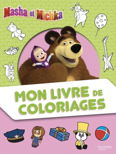 Masha et Michka - Mon livre de coloriages