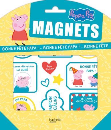 Peppa Pig-Pochettes Magnets - Bonne fête Papa