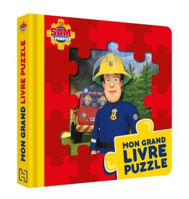 Sam le pompier - Mon grand livre puzzle