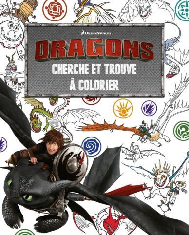 Dragons - Cherche et trouve à colorier