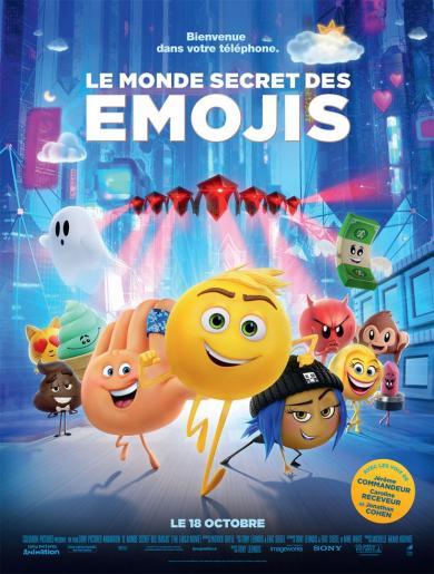 Affiche cinéma Le monde secret des émojis