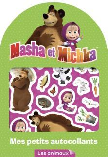 Masha et Michka - Mes petits autocollants - Animaux