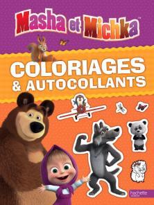 Masha et Michka - Coloriages et autocollants
