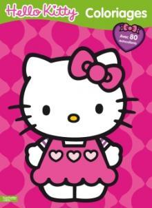 Coloriage irisé Hello Kitty