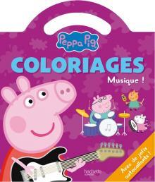 Peppa Pig / Coloriages poignée - La musique