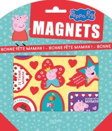 Peppa Pig-Pochettes Magnets - Bonne fête Maman
